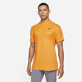 Nike Dri-FIT Tiger Woods Ανδρική κοντομάνικη μπλούζα γκολφ με ψηλό γιακά