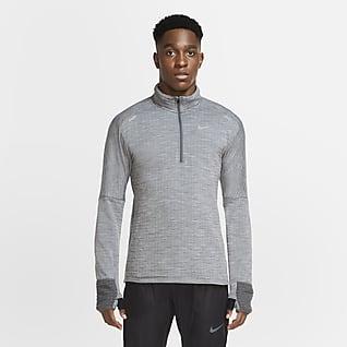 Nike Sphere Мужская беговая футболка с молнией на половину длины