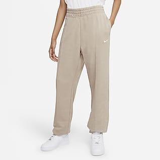 Nike Sportswear Essential Collection Vorgewaschene Fleece-Hose für Damen