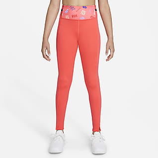Nike Dri-FIT One Luxe เลกกิ้งพิมพ์ลายเด็กโต (หญิง)