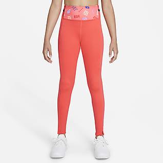 Nike Dri-FIT One Luxe Big Kids' (Girls') Printed Leggings