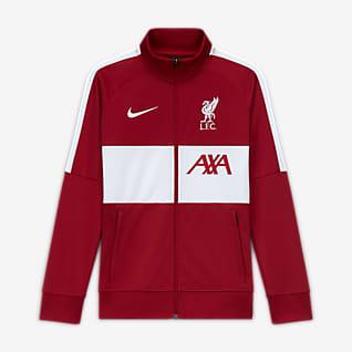Liverpool FC Chamarra de entrenamiento de fútbol para niño talla grande