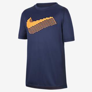 Nike Trophy Camiseta de entrenamiento de manga corta con gráfico para niño talla grande