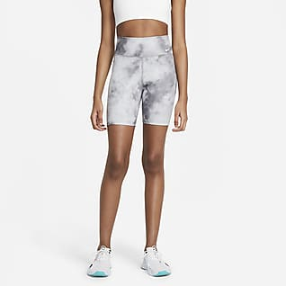 Nike One Icon Clash Mønstret shorts (18 cm) til dame