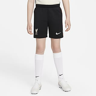 Liverpool FC 2021/22 Stadium Away กางเกงฟุตบอลขาสั้นเด็กโต Nike Dri-FIT