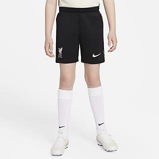 Liverpool FC 2021/22 Stadium (bortaställ) Fotbollsshorts Nike Dri-FIT för ungdom