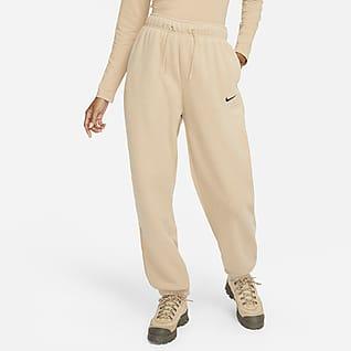 Nike Sportswear Essentials Plush joggebukse med høyt liv til dame