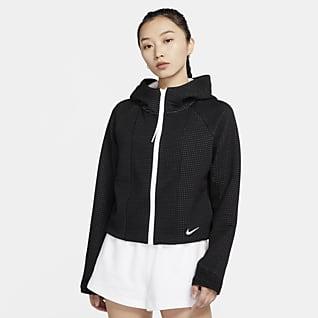 Nike Sportswear Tech Fleece Γυναικεία μπλούζα με κουκούλα, φερμουάρ σε όλο το μήκος και ειδική σχεδίαση