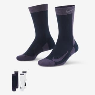 NikeCourt Multiplier Max Κάλτσες τένις μεσαίου ύψους (δύο ζευγάρια)