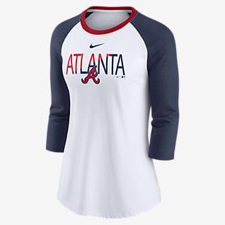 Nike Color Split (MLB Atlanta Braves) Women's 3/4-Sleeve T-Shirt
