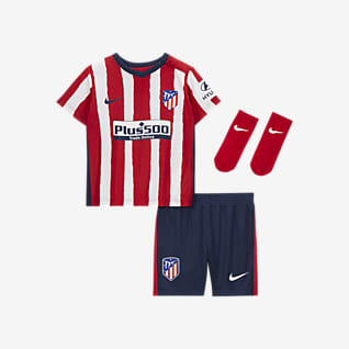 Atlético de Madrid 2020/21 (hjemmedrakt) Fotballsett til sped-/småbarn