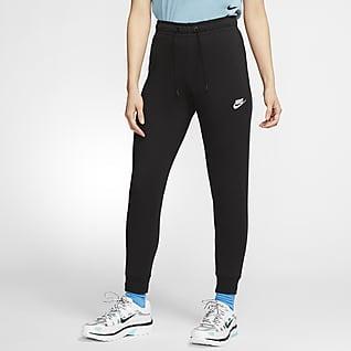 Nike Sportswear Essential Damskie spodnie z dzianiny ze średnim stanem
