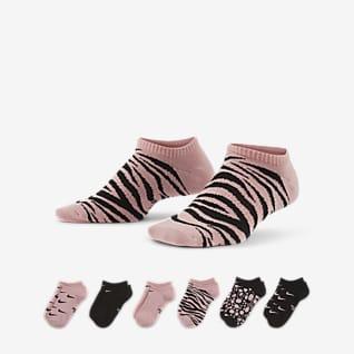 Nike Everyday Calcetines ligeros invisibles para niños talla grande (6 pares)