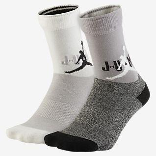Jordan Κάλτσες μεσαίου ύψους με αντικραδασμική προστασία για μεγάλα παιδιά (2 ζευγάρια)