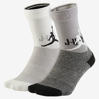 Jordan Gepolsterte Crew-Socken für Kinder (2 Paar)