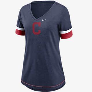 Nike Dri-FIT Logo Fashion (MLB Cleveland Baseball) Women's V-Neck T-Shirt