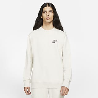Nike Sportswear Sport Essentials+ Herren-Rundhalsshirt aus angerautem Material