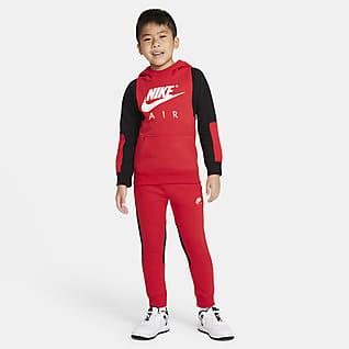 Nike Air Conjunto de pantalones y sudadera con capucha para niños talla pequeña