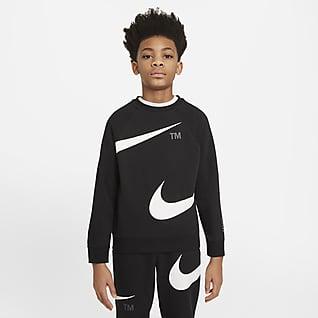 Nike Sportswear Swoosh Tröja med rund hals för ungdom (killar)