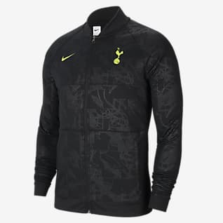 Tottenham Hotspur Fotbollsjacka med dragkedja i fullängd för män