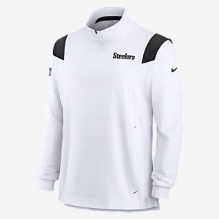 Nike Sideline Coaches Repel (NFL Pittsburgh Steelers) Chamarra con cierre de 1/4 para hombre