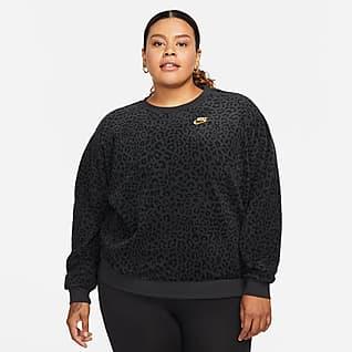 Nike Sportswear Fleecetröja med rund hals för kvinnor (Plus Size)