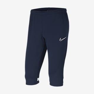 Nike Dri-FIT Academy Męskie dzianinowe spodnie piłkarskie 3/4