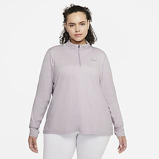 Nike Element Camiseta de running de medio cierre para mujer (talla grande)