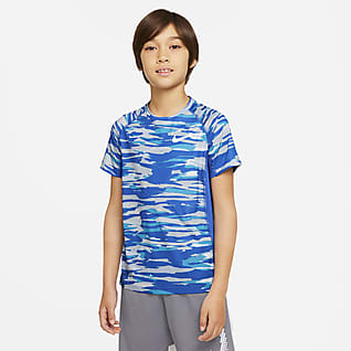 Nike Pro Big Kids' (Boys') Printed Top
