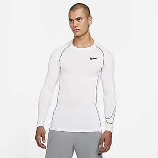 Nike Pro Dri-FIT Langærmet overdel med tætsiddende pasform til mænd