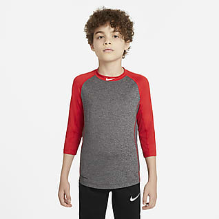 Nike Pro Dri-FIT Big Kids' (Boys') 3/4-Sleeve Baseball Top