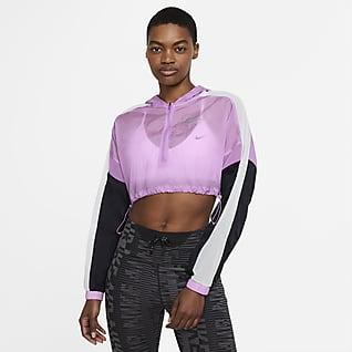 Nike Air Verkürzte Damen-Laufjacke