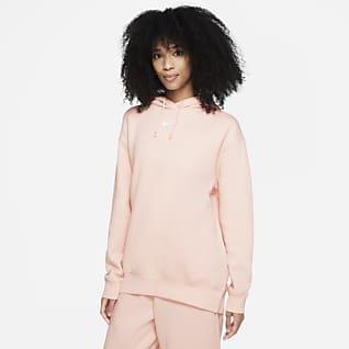 Nike Sportswear Essential Collection Γυναικεία φλις μπλούζα με κουκούλα σε φαρδιά γραμμή