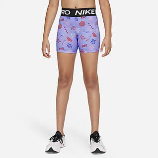 Nike Pro Dri-FIT Εφαρμοστό σορτς για μεγάλα κορίτσια