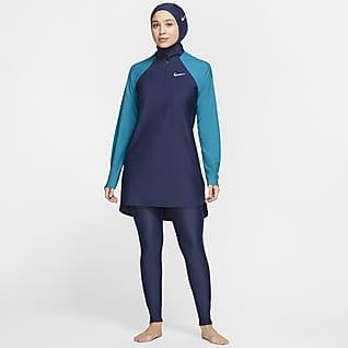 Nike Victory Γυναικείο κολάν κολύμβησης πλήρους κάλυψης σε στενή γραμμή