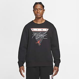 Jordan Flight Sweat-shirt col ras-du-cou en tissu Fleece à motif pour Homme