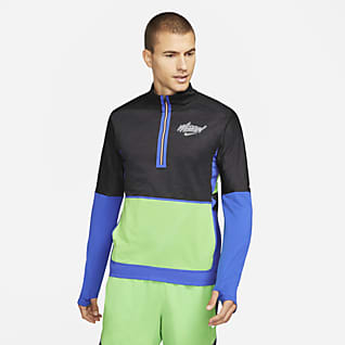 Nike Dri-FIT Element Wild Run Men's 1/2-Zip Graphic Running Top