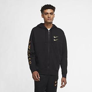 Nike Sportswear Swoosh Pánská mikina s kapucí a zipem po celé délce