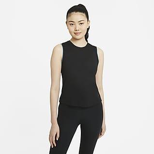 Nike Yoga เสื้อกล้ามขอบโครเชต์ผู้หญิง