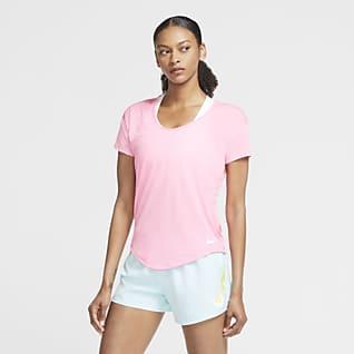 Nike Breathe 女款短袖跑步上衣