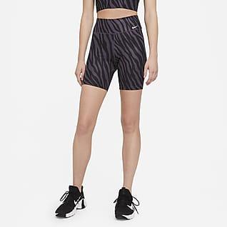 Nike One Shorts estampados de 18 cm para mujer