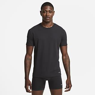 Nike Everyday Cotton Stretch Men's Slim Fit Crew-Neck Undershirt (2-Pack)