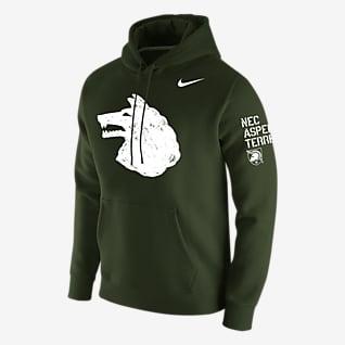 Nike College Club Fleece (Army) Men's Pullover Hoodie