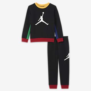 Jordan Kerek nyakkivágású pulóver és nadrág szett babáknak