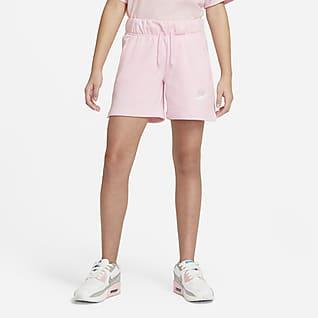 Nike Sportswear Club 大童 (女童) 法國毛圈布短褲