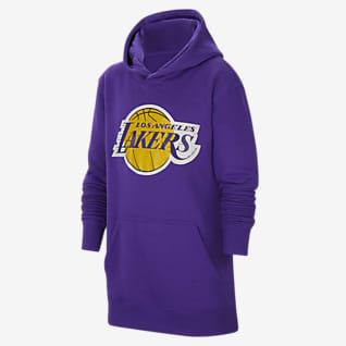 Los Angeles Lakers Essential Bluza z kapturem dla dużych dzieci Nike NBA