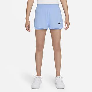 NikeCourt Dri-FIT Victory Spodenki tenisowe dla dużych dzieci (dziewcząt)