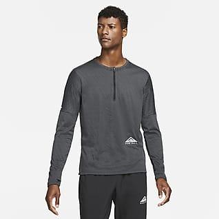 Nike Dri-FIT Camisola de running para trilhos com fecho até meio para homem