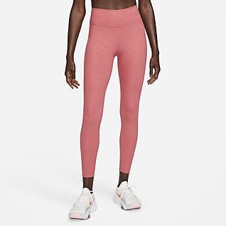 Nike Dri-FIT One Icon Clash Mønstret leggings i 7/8 lengde med mellomhøyt liv til dame