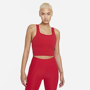 Nike Yoga Luxe Женская укороченная футболка из ткани Infinalon